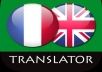Order and get unique translator 600-800 words from English to French and vice versa