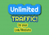 UNLIMITED TRAFFIC for life! NO Expiration!