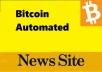 Build Premium Autopilot Bitcoin Crypto News Site For Passive Income