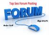 50 Niche Relevent Forum Posting