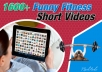 Give you 1600+ Fitness Short Funny Videos for Blog and Social Media