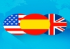 If you need professional translations from English to Spanish or vice versa, count on me