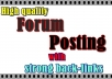 Promote your website by 20 HQ forum posting