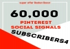 Rocket Delivery 60,000 Pinterest Share Social Signals Boost