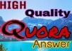 Submit your website 10 High Quality Quora Answers