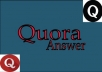 Rank your site 12 HQ PA DA backlink with Quora