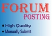 Promote website by high quality 12 Form posting