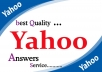 Promote Website at Yahoo Answers with 10 Yahoo Answer