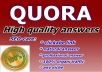 guaranteed high quality 30 QUORA answer and backlink