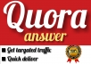 Promote your website with 50 QUORA answers