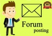 Promote website by HQ 15 Forum posting with your URL
