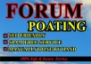 Give you 10 Niche Relevant forum posting links