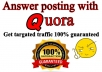 Promote your Website 25 High quality quora answers