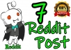 Real 7 Reddit post on your link with different subreddit