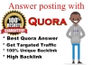 Promote your website with 20 HQ Quora Answer