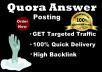 Promote your business with 20 High Quality Quora Answer Backlinks