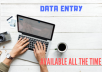 Any sorts of Data Entry is done which will be less than 2 hour