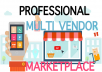 create multi vendor / Shop marketplace php or wp with premium plugins