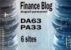 Give your backlink on da63x6 finance blogroll dofollow