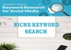 SEO keyword research for your niche