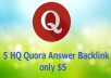 5 HQ Quora answer For Promote your business