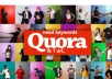 New updated! 10 HQ quora answer backlink with traffic.