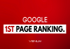 The Ultimate SEO Package - Guaranteed Google First Page Ranking - 2019 Update