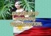 Translate English to Tagalog Articles and Vice Versa