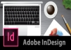 Do any Adobe InDesign Project and pdf to inDesign