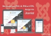Convert Photoshop or image or pdf to HTML5 and CSS3 - Responsive