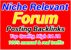 Limited Time- 100 Forum Posting Backlinks from High DA-40+ Domains-Skyrocket your Google RANKING