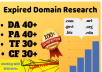 5 expired domain research with high metrics pbn for your niche targeted