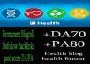 Give you backlink da70x6 Health permanent blogroll