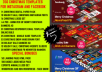 I will give you 350 Christmas Templates and Special Bonuses for instagram and facebook