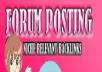 Rank on Google 2000 + forum posting Backlinks Alexa exclusive manually