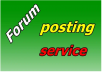 Forum Posting & Rank on Google Alexa by exclusive manually 2200 +