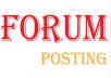 2050 + forum posting Backlinks Rank on Google by manually