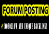2000 ++ forum posting Backlinks by manually