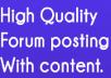 Rank on by exclusive manually 1900 + forum posting Backlinks Google Alexa