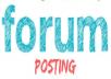 2000 + forum posting Backlinks Rank on Google Alexa manually