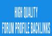2000 + forum posting Backlinks for Google