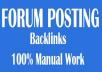 Rank on Google Alexa 2100 + forum posting Backlinks by manually
