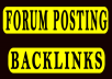 Rank on Google Alexa 2200 + forum posting Backlinks