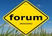 Rank on Google 2100 + forum posting Backlinks by manually