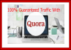 Guaranteed traffic with High quality 10 quora Answer