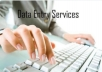 Data entry by profession on time as per customer requirement.