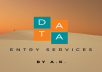 Data enrty services within time.