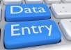 Data entry typing copy and past job