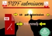 I will create manually PDF submission on 10 documents sites