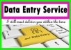 Copy and paste data entry service